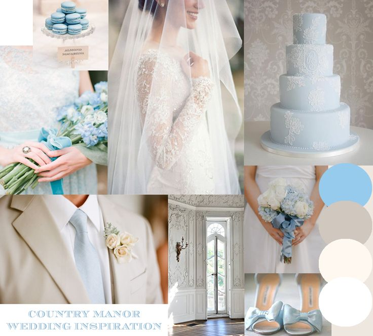 Cornflower Blue Classic Lace Country Manor wedding inspiration moodboard to match the Country Manor range of wedding stationery http://www.knotsandkisses.co.uk/product-category/pastels-collection/country-manor-cornflower/