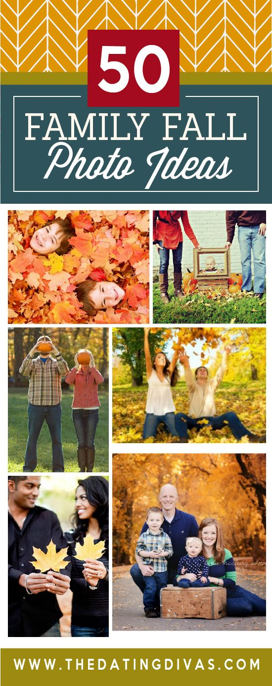 50 Family Fall Photo Ideas for pictures this year!