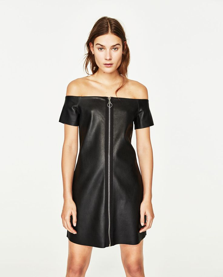 LEATHER-EFFECT DRESS