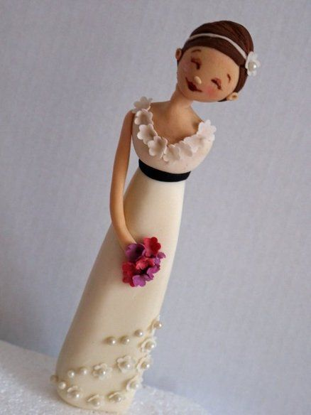 Bride Wedding Cake Topper  Cake by ScrummyMummy