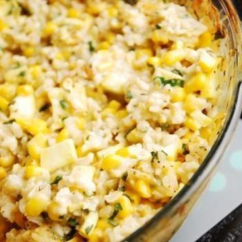 Mexican Style Corn & Rice Casserole