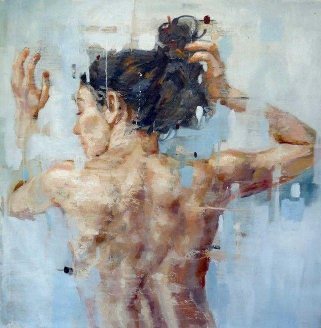 PEINTURE : Cesar Biojo peint de très beaux portraits de femmes dont la particularité est qu'il détruit ses peintures d'un revers de pinceau, une fois qu'il a achevé son travail. Ses peintures à l'huile se situent entre création et destruction.