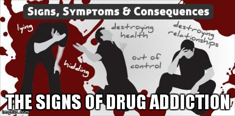 Identifying The signs Of #Drug Addiction