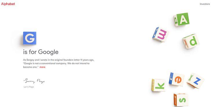 Google gets a holding company, Alphabet
