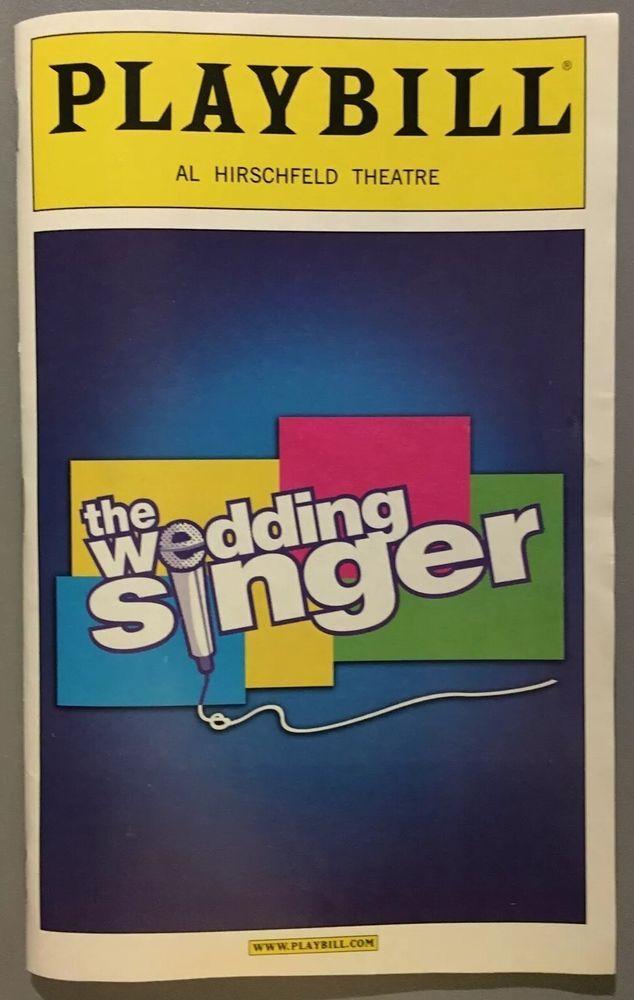 The Wedding Singer Broadway NYC Playbill W Constantine Maroulis American Idol