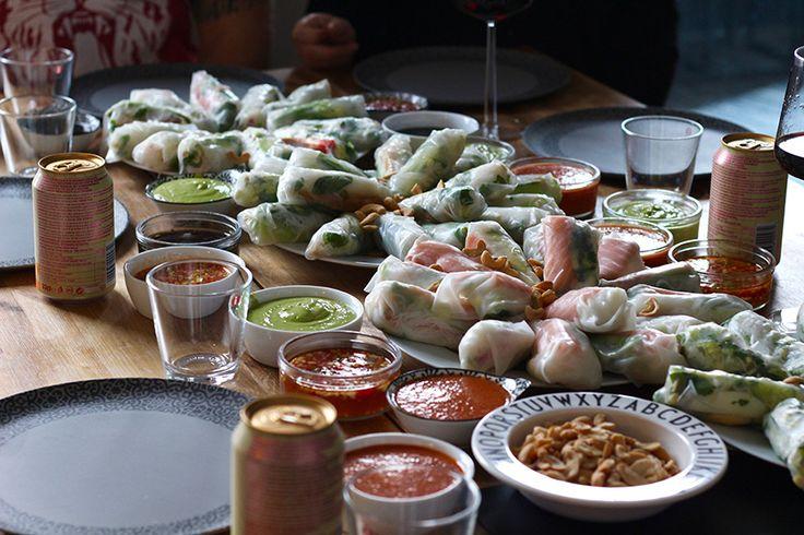Vietnamilaiset kevätrullat ja 5x kastike