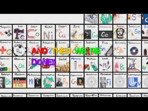 125 best elements of the periodic table images on pinterest the elements song slowed down youtube urtaz Image collections