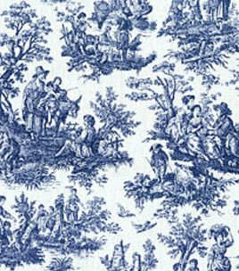 Home Decor 8x 8Swatch Rustic Toile Navy Home Decor