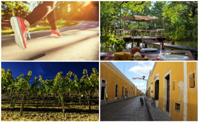 Ponte los tenis y échate a correr en Izamal o en los viñedos de Querétaro