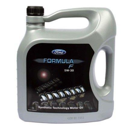 FORD FORMULA F 5W30 es un aceite multigrado 100% sintético de alto rendimiento que mejora el funcionamiento del motor, reduce el consumo de combustible y las emisiones dañinas al medioambiente.  Está  especialmente desarrollado para FORD y para todos los constructores (ROVER, JAGUAR, RENAULT gasolina, PSA) que preconizan aceites de baja viscosidad HTHS (High Temperature High Shear = min. 2,9 máx. 3,5 mPa.s).