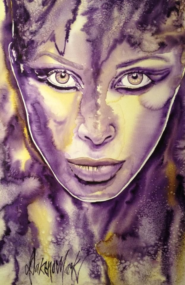 Cosmos, watercolour by Dakeno Mark