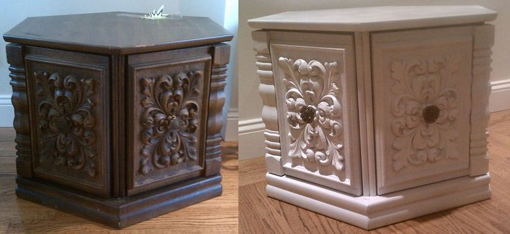 We all have seen these $ 5 or $ 10 dated end tables at the thrift store...wow what a couple coats of paint will do!!!  parkhouselove.com: Paintings Furniture, Side Tables, Furniture Makeovers, Paintings Spree, Beforeandaft Ug, Furniture Paintings, End Tables, Sprays Paintings, Diy Paintings