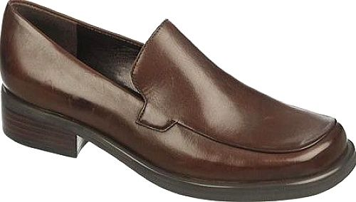 Franco Sarto Shoes - Slip into the Franco Sarto Bocca Loafer for a polished versatile look that blends the feminine with the masculine. These Franco Sarto loafers for women feature a smooth calf leather upper, a square toe, and a unique subtle stitching detail on the vamp. - #francosartoshoes #brownshoes