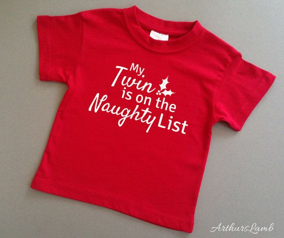 Naughty List Twins Christmas T Shirt,Twins Outfits,Twins Gifts,Twin Baby Clothes,Gifts for Twins,Christmas Gift Idea,Christmas Shirt,Sibling