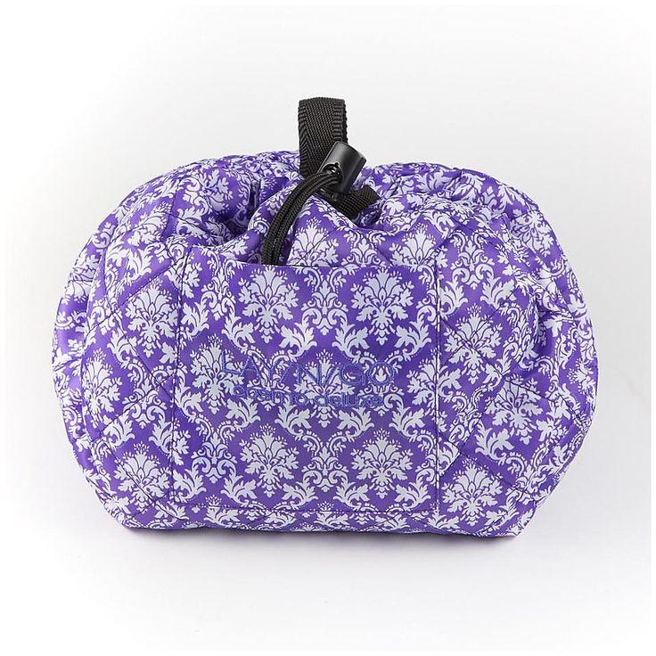 "LayNGo Cosmo Deluxe 22"" Cosmetic Bag In Purple/white"