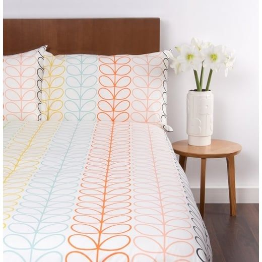 Orla Kiely House Linear Stem Multi Stripe Duvet Cover - Double