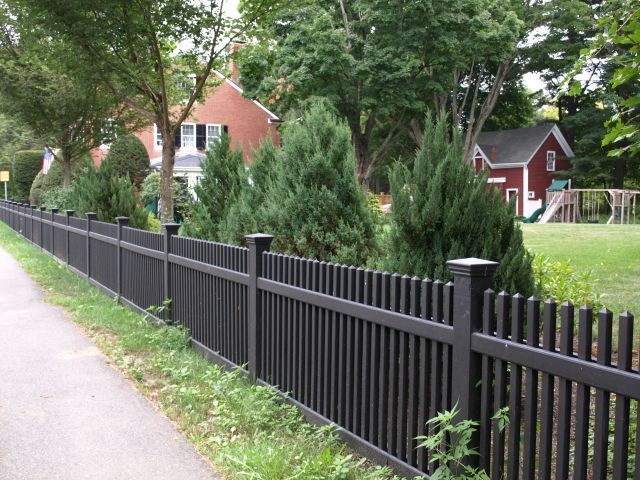 straight picket fence google search landscaping yards. Black Bedroom Furniture Sets. Home Design Ideas