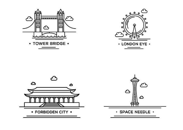 Cualquier ciudad grande, importante y conocida que se precie tiene algún monumento o lugar famoso. PugMarker ofrece algunos iconos gratuitos...