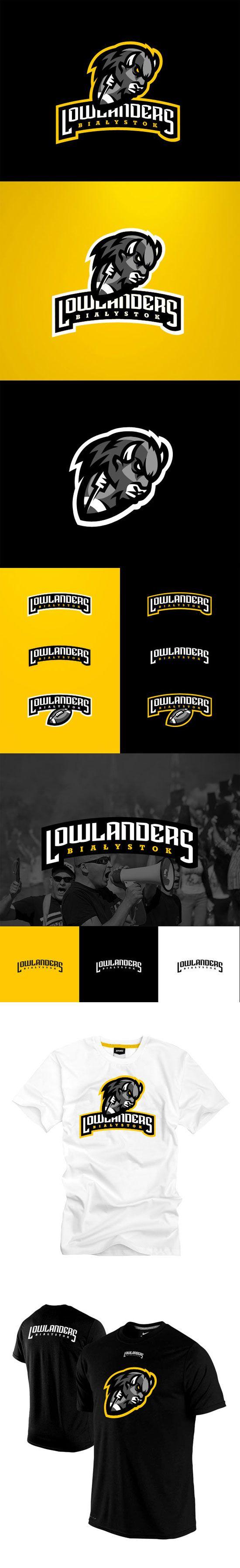 """""""Lowlanders Bialystok"""" - Awesome Sports Logo Designs by Kamil Doliwa   iBrandStudio"""