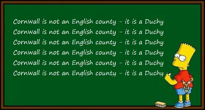 BART SIMPSON: 'Cornwall is not an English county - it's a Duchy' ✫ღ⊰n
