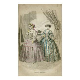Viktorianische Mode Plakatdruck