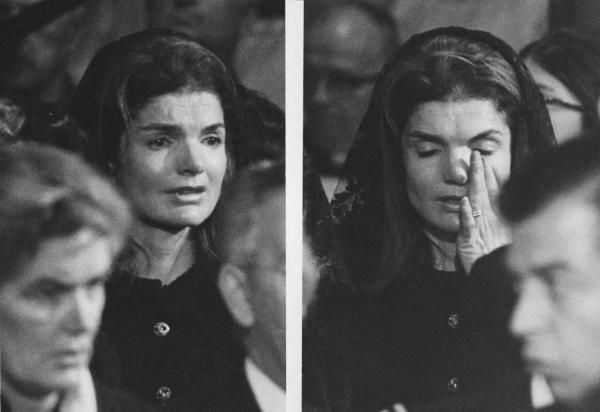 You can feel her pain ... Jacqueline Kennedy at the funeral of John Kennedy