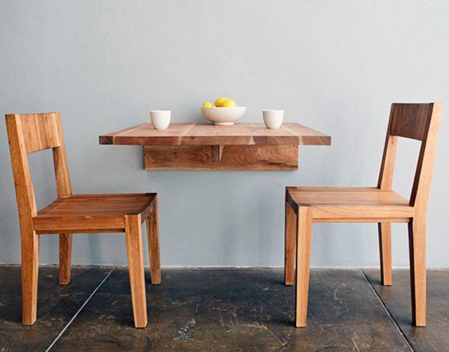 Fancy - Wall Mounted Table by LAXseries:  Boards, Wall Mount Tables, Breakfast Nooks, Small Kitchens, Kitchens Tables, Wall Mounted Table, Wallmount, Small Spaces, Dining Tables