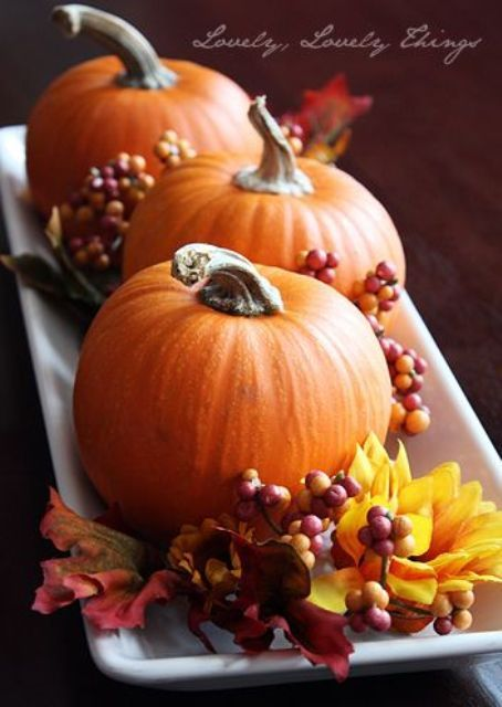 40 Amazing Fall Pumpkin Centerpieces | DigsDigs