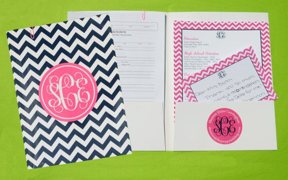 Sorority Recruitment Recommendation Kit by ThePreppyLadybug, $120.00