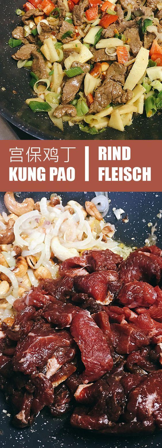 Kung Pao Rindfleisch   Gong Bao Szechuan Kunst