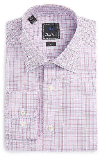 Men's David Donahue Trim Fit Check Dress Shirt