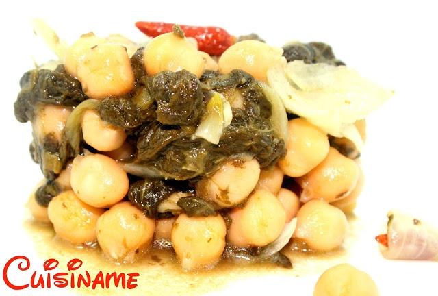 Una deliciosa y sana receta de garbanzos y espinacas. Esta receta de cocina incluye también curiosidades sobre Popeye y las espinacas.