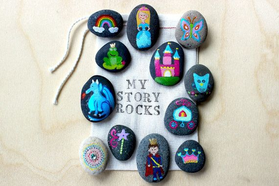 Fairytale and Princess Story Stones and Painted Rocks - such a fun and imaginative way to help kids tell stories.