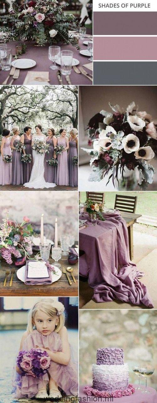 shades of purple fall wedding colors #weddingcolors #fallwedding #weddingideas #…