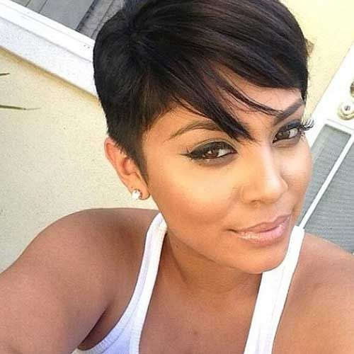 Really Pretty Black Girls with Short Hair | http://www.short-haircut.com/really-pretty-black-girls-with-short-hair.html