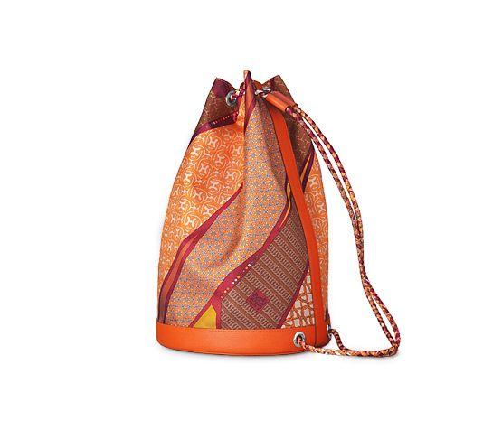 "hermes canvas tote bag - Soie-Cool Hermes sport chic bag in Galicia blue ""Brides de Gala ..."
