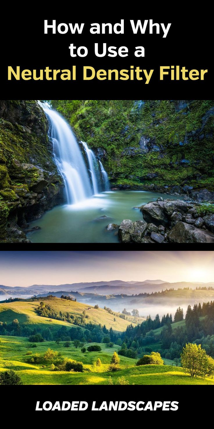 How and Why to Use a Neutral Density Filter. Photography tips and tutorial that shows how to use ND filters for long exposure landscape and nature photos. Gear, lens, camera, DSLR, blur, effects, #photography #photographytips #landscapephotography #naturephotography