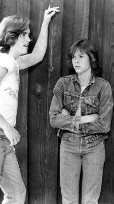 Closet classic: The forever-cool jean jacket Kristy McNichol, with Matt Dillon, on the set of Little Darlings, 1980
