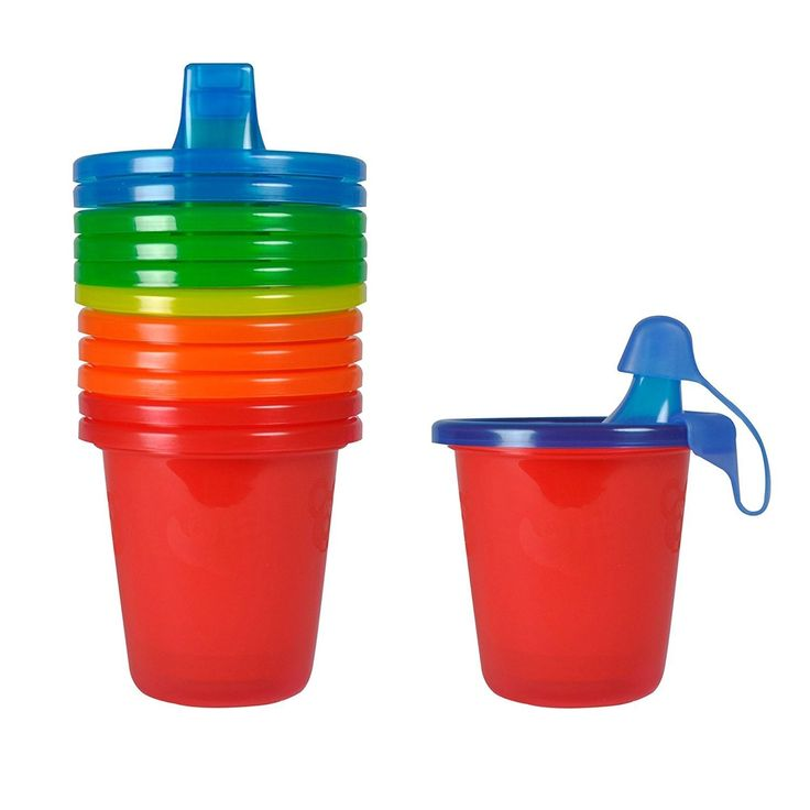 The First Years Red Take and Toss 7-ounce Spill Proof Cups