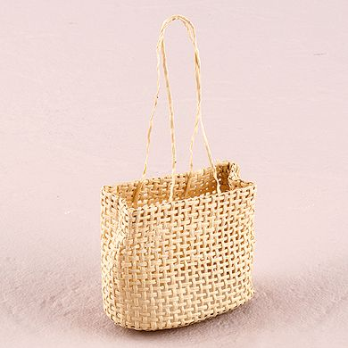 Natural Miniature Woven Beach Bags  2x2