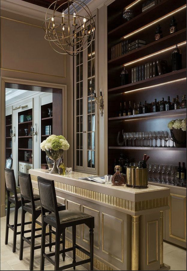 Best 25 built in bar ideas on pinterest wet bars basement kitchenette and basement kitchen - Luxury home bar designs ...
