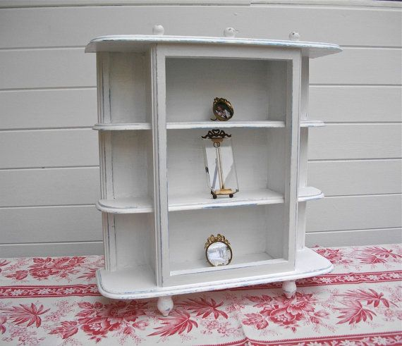 French antique cabinet / small white medicine cabinet or trinkets / bathroom cabinet