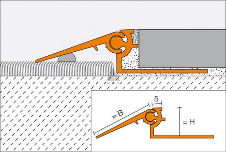 Pohyblivé přechodové rameno pro nosnou lištu, RENO, Schlüter, 20 mm, hliník, přírodní, stříbrná, 2,5 m