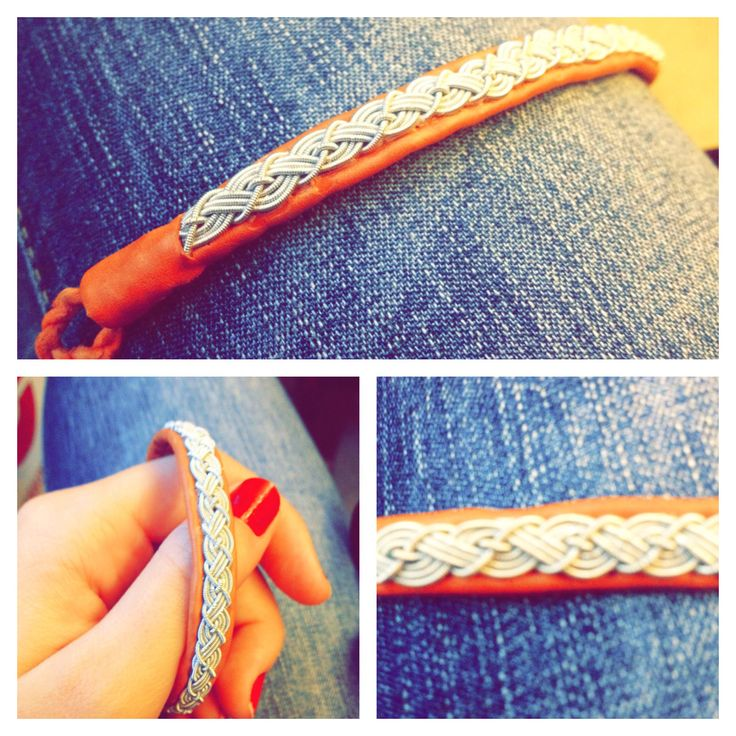 Sami bracelet, tin bracelet, Tenntrådsarmband. Fyrfläta