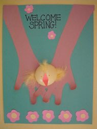 Welcome Spring Collage, great way to Welcome Spring for ages 3 & up