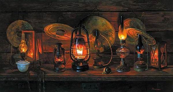 Ведерников Борис. Старые лампы. 2003