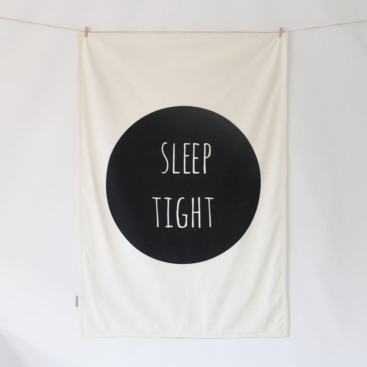 MODERN BABY BLANKET - SLEEP TIGHT