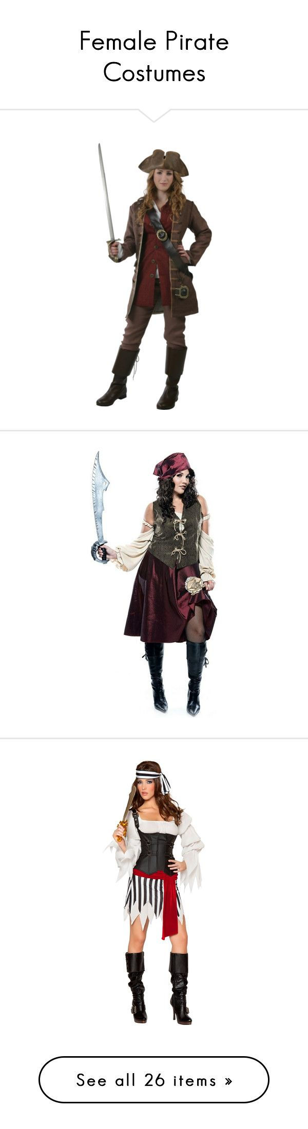 """Female Pirate Costumes"" by justkath ❤ liked on Polyvore"