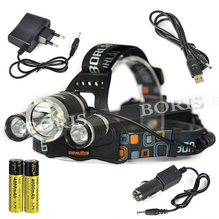 Из светодиодов фар 3 * T6 6000LM XM-L T6 из светодиодов фары велосипеда фара открытый свет фронтальной из светодиодов + 2 * 18650 сетевой usb-зарядное автомобильное зарядное устройство