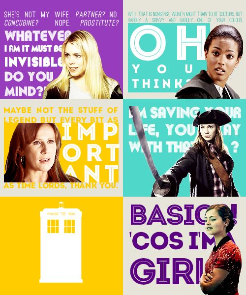 The sassy & independent women of Doctor Who.